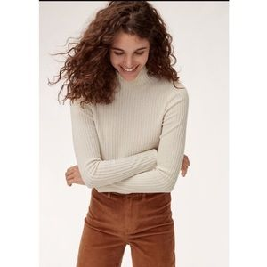 Aritzia Wilfred Free Tamu Turtleneck Cropped Top